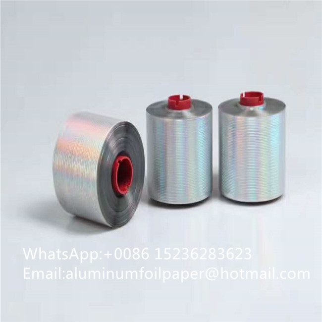 2.5mm easy open Laser holographic adhesive tear off tape bopp packing tape
